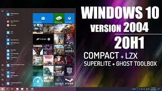 WINDOWS 10 - VERSION 2004/20H1 COMPACT / SUPERLITE - GAMING EDITION! & Comparison 2004/1909!