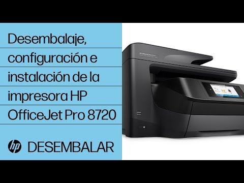 Desembalaje, configuración e instalación de la impresora HP OfficeJet Pro 8720