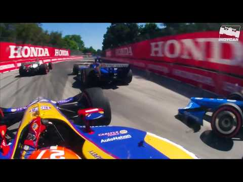 THRILLING Lap 1 onboards from IndyCar at Toronto
