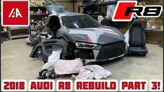 Rebuilding a Wrecked 2018 Audi R8 Part 3