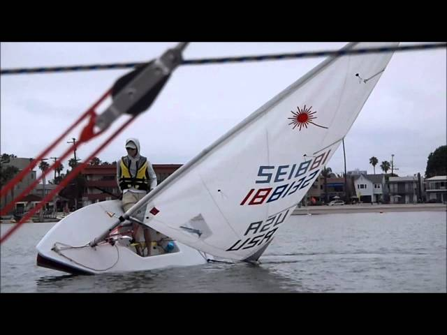 Laser Sailing:  Donuts, Roll Tacks, Roll Jybes,  in Light Wind