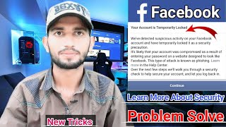Your Account Is Temporarily Locked | Facebook | How To Unlock | Problem Solve | By MTC Channel🔥