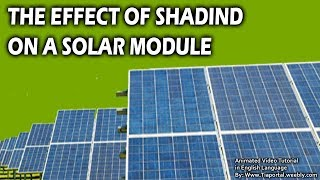 10- Effect Of Shading On A Solar Module  | Basics of Solar Energy