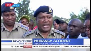3 people die and several injured in Murang'a accident
