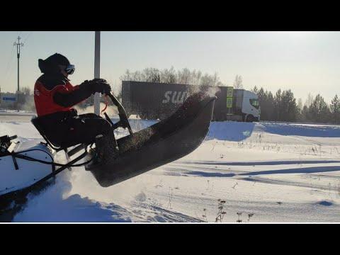 Протестировали два мотобуксировщика в условиях сибирских морозов