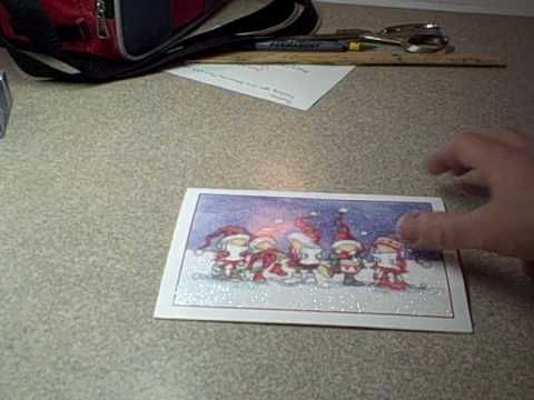 How to make a box out of a greeting card (Recycled Christmas Card Craft)