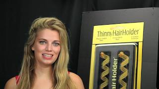 How to Create a Side Swept Hairdo That Lasts with ThinnyHairHolder
