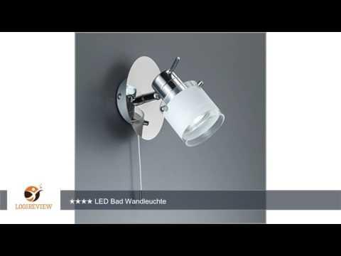 LED Bad Wandleuchte Wandlampe schwenkbar spritzwasser geschützt IP44 Zugschalter Deckenleuchte