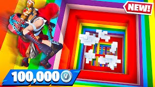 Little Brother Gets 100K Vbucks if He Wins! (Fortnite Rainbow Dropper)