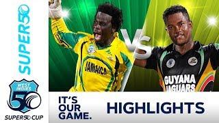 Super50 Cup 2018 SEMI FINAL |  Jamaica v Guyana - Extended Highlights