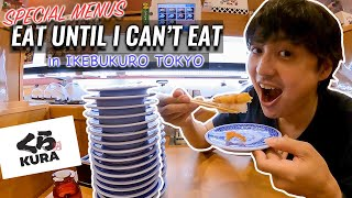 Eating Conveyor Sushi Special Menus Until I can't Eat at