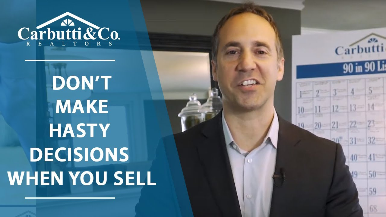 Sellers: Be Smart in Our Market
