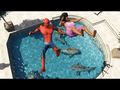 GTA 5 Epic Spiderman Water Ragdolls ep.43 (Euphoria Physics)