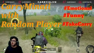 CarryMinati play Pubg with Random Player || Emotional & Comedy Moments || Fake Carryminati || SDGR