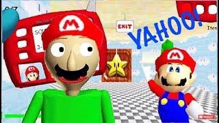 BALDI'S SUPER YAHOO BROS!! | Baldi's Basics MOD: Baldi's Basics 64 Mario