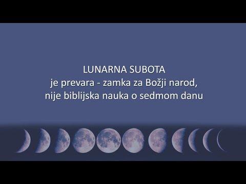 Subota nije lunarna. Sećajmo se sedmične subote