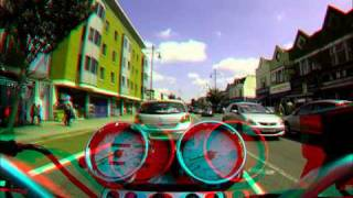 GoPro 3D System Review - Crazy Lane Splitting/Filtering UK