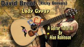 Lady Gypsy - David Brent (Ricky Gervais) - Acoustic Guitar Lesson (easy)