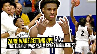 Zaire Wade & Bronny James GO LOCO In FIRST LEAGUE Game For Sierra Canyon!!! Zaire Wade GETTIN' UP!!