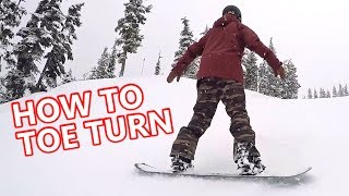 #51 Snowboard begginer – How to toe turn