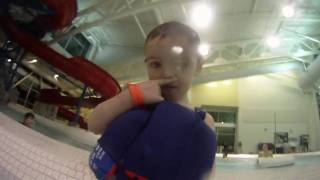 Toddler throws video camera in water