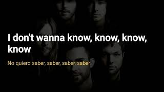 Maroon 5 - Don't Wanna Know [lyrics]