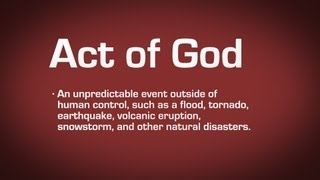 Act of God Definition