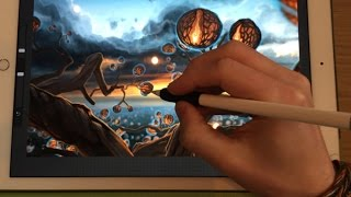 Apple Pencil drawing tutorial - HOW TO TURN A DRAWING INTO A PAINTING, PART 2