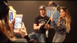 Dierks Bentley Visits The Studio To Measure Amy's Chair