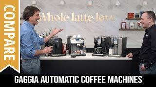 Compare Gaggia Automatic Coffee Machines: Brera, Velasca & Anima