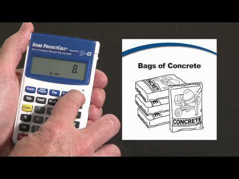 Home ProjectCalc - Bags of Concrete and Volume