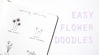 Easy Flower Doodle Tutorial