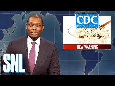 Weekend Update hosts write jokes for the other and read them aloud without having ever seen them.