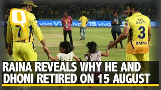Suresh Raina Reveals Why He and Dhoni Retired on 15 August | The Quint - Download this Video in MP3, M4A, WEBM, MP4, 3GP