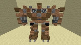 Minecraft - How To Build Transformers 4 Rusty Truck Optimus Prime Robot Mode!