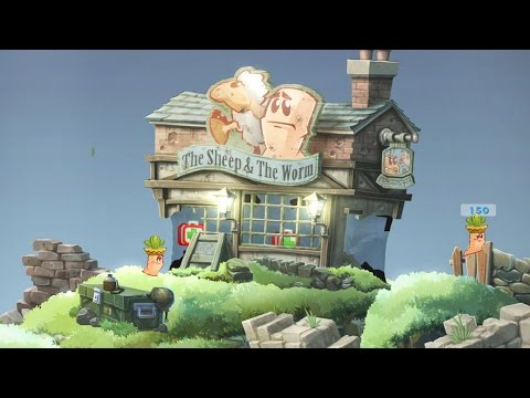 Worms WMD Two Player Match - Gameplay