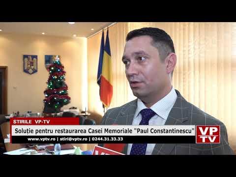 """Soluție pentru restaurarea Casei Memoriale """"Paul Constantinescu"""""""