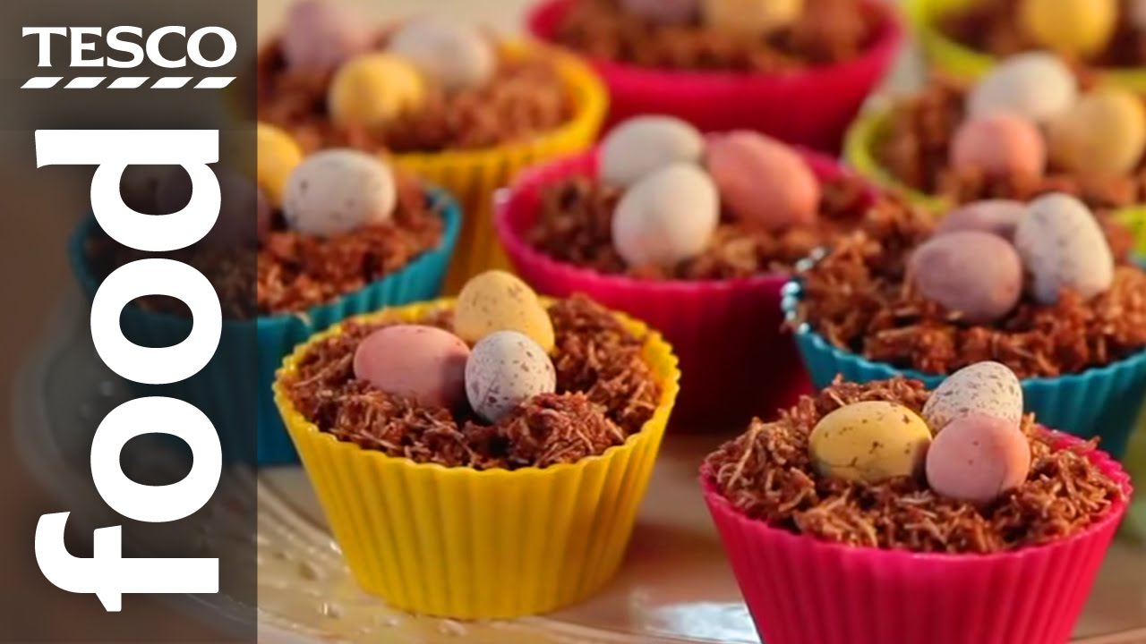 Chocolate Easter nest cakes