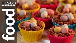 How to make chocolate nest Easter cakes