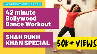 42 minute Bollywood Dance Workout   Shahrukh Khan Special   Nostalgia overloaded   For Weight loss