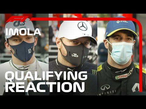 F1 第13戦エミリア・ロマーニャGP 予選を終えたレーサーのインタビューを集めた動画