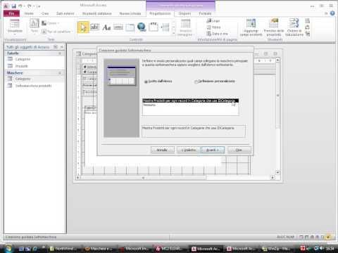 Maschera e sotto-maschera con Microsoft Access