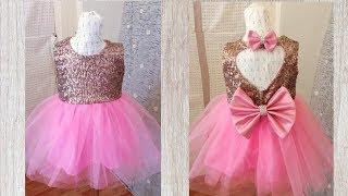 Gold And Pink Flower Girl Tutu Dress Tutorial 2020