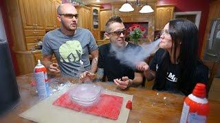 Liquid Nitrogen and Whip Cream Challenge