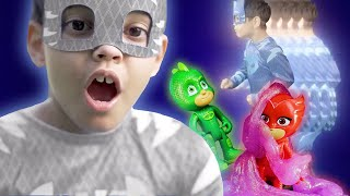 PJ Masks in Real Life ⭐️  Tiny PJ Masks, Boo Boo, Racing Heroes ⭐️ PJ Masks Official