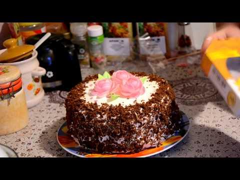 Шоколадный торт на кефире - простой и вкусный рецепт !