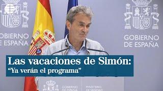 """Simón: """"No voy a comentar mis vacaciones, el programa ya lo verán"""""""