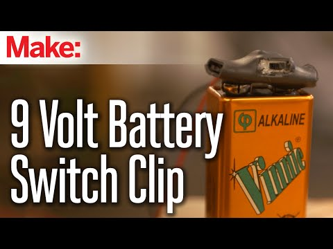 9 Volt Battery Clip Switch