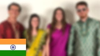 Americans Try On Indian Clothes !!!!! Sarees - Dhoti