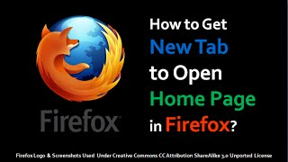 How to Get New Tab to Open Home Page in Firefox